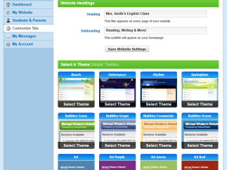 A limited number of themes are free; a paid upgrade offers more options.