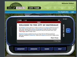 The cell-phone also shows text-based help information.