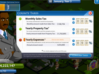 Players can alter tax structures and budgets.