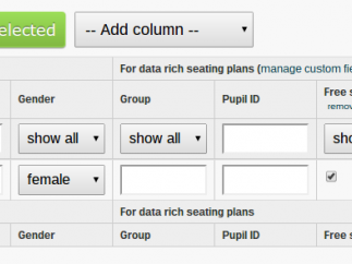 Teachers can customize the data fields attached to each student.