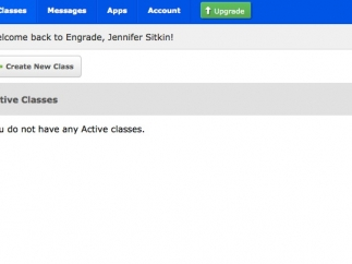 Teachers can upload classes and track grades.