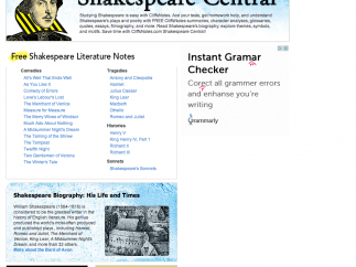 There's an entire section devoted just to Shakespeare.