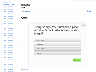 Quizzes calculate scores and highlight each incorrect answer.