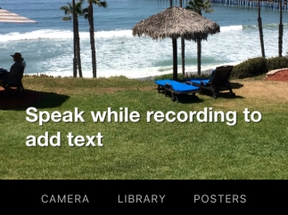The steps to record a video with Live Titlesare intuitive, and helpfulpop-up instructions provideguidancealong the way.