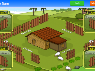 Students use math to solve a problem of sheep escaping.