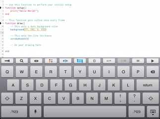 Quick function keys at the top of the keyboard make coding quicker and easier.