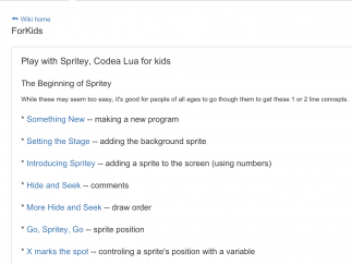 Along with the coding editor, kids and teachers can access help tools and tutorials to learn to use Codea.