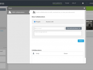 Invite others and manage permissions.