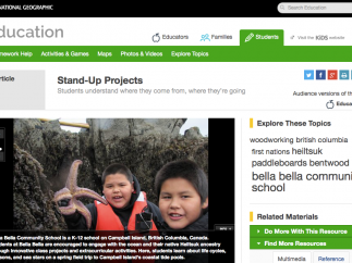 The Cool Schools section shows how some schools use local and Web-based resources.