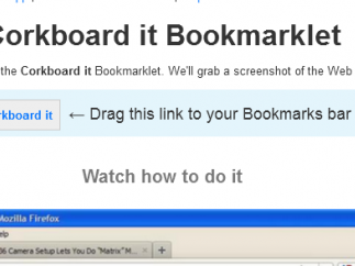 The bookmarklet is the best way to grab content from the web.