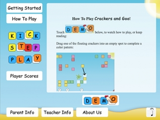 A demo helps kids get started and learn basic game play rules and features.