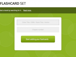 It's fairly easy to create sets of flashcards.