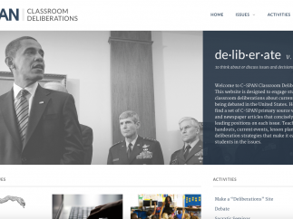 Classroom Deliberations helps teachers integrate C-SPAN videos and content into civics and history classes.