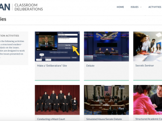 Explore the activities page to find activities to use with any of the 25 issues.