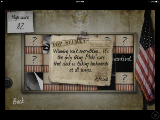 The Trophy Room keeps track of the endings the user has reached. Those that aren't yet revealed display clues.