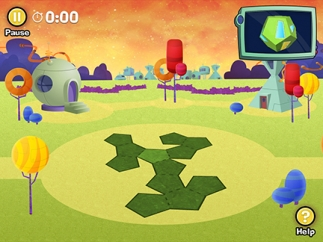 Levels increase in difficulty as shapes become more complex.