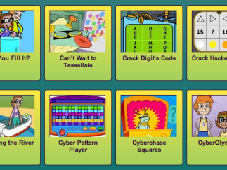 Students can choose a variety of engaging math games from the games menu.