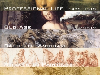 Da Vinci's works are categorized by time period.