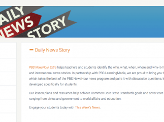 Teachers can share PBS News Hour videos with students.