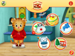 Choose from five ways to explore with Daniel Tiger.