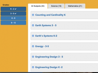 Search for tasks by grade level and subject/skill areas.