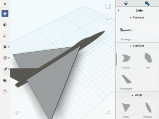 The 123D Design workspace is user-friendly.