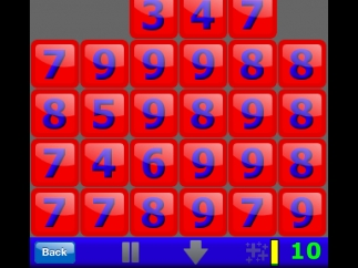 When the screen fills with blocks, that round is over.