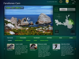 The Farallones Cam allows kids to change views and control a live camera in a habitat that includes whales, birds, and seals.