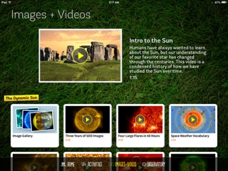 Kids will enjoy the gorgeous images and videos.