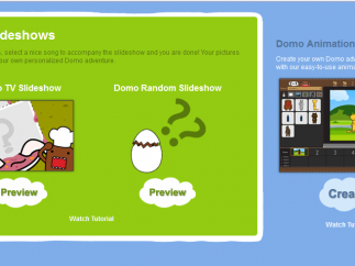 A slideshow tool is still in preview, but tutorial videos explain how to use the site's tools.