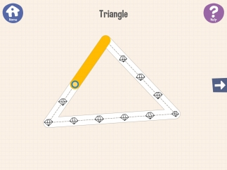 Trace with your finger to draw each shape.