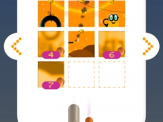 Buy new levels with coins you've earned through playing; complete levels to complete the picture.
