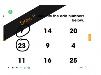 "An example of a ""draw it"" slide from a math presentation."