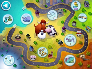 Kids travel through an adorable town to play games and learn math skills.
