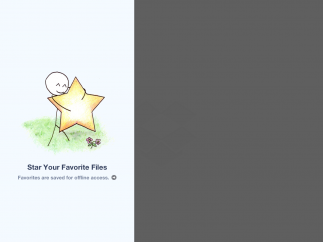 Starred files are saved to a favorites folder and can be accessed even when offline.