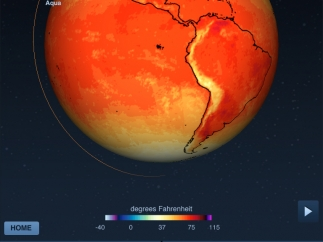 Students can view temperature data and use a color scale to interpret the visuals.