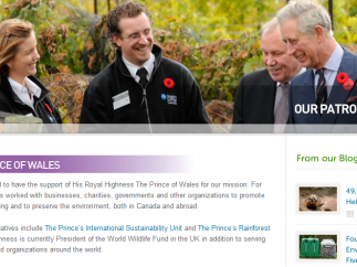A Canadian effort, the site is supported by folks like Prince Charles.