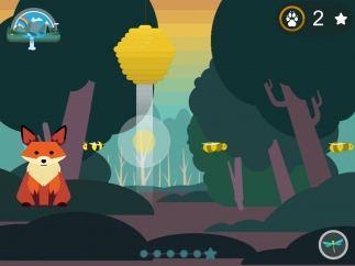 Practice hearing rhythm by matching the fox's steady beat.