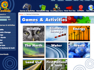 The student-friendly site is colorful and pleasantly organized.