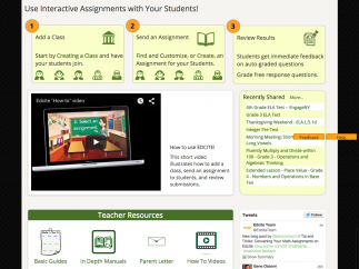 Edcite's teacher dashboard can give real-time data as students work.