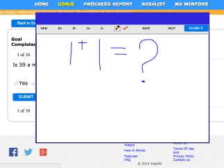 Kids can save their problem-solving strategies on the whiteboard for teachers to review later.