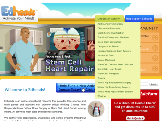 From the homepage, visitors can choose one of the site's 17 simulations.