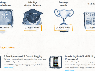 Students can participate in blogging challenges.