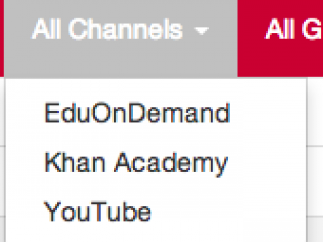 Education on Demand has three channels, two of which that pull from other sites.