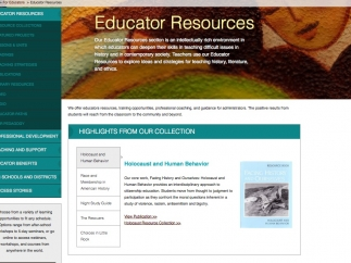 Educator resources help develop content knowledge and instructional strategies.