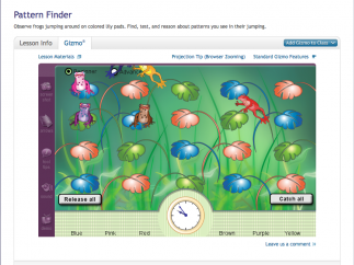 """Pattern Finder"" is a great combination of algebraic and scientific thinking."