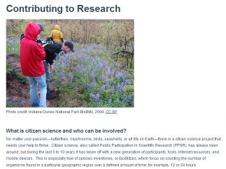 Kids can become Citizen Scientists, adding their own research.