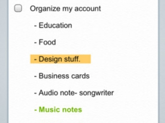 Notes can be checklists, images, audio recordings, or straight text.