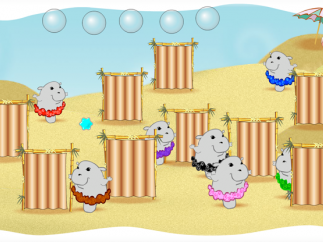 "Each section of the brain has its own mini-game, like ""Hiding Hippos."""