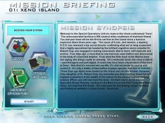 At the start of each level, review background information and math required to complete that mission.